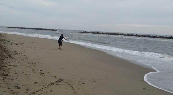日本海で黒鯛釣り
