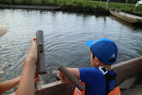 舟漕ぎ体験